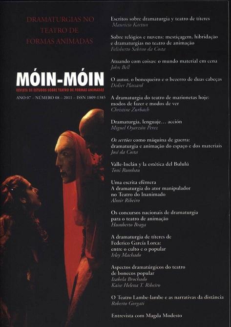 Visualizar v. 1 n. 08 (2011): Dramaturgias no Teatro de Formas Animadas